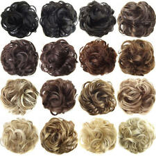 Real Natural Curly Messy Bun Hair Piece Scrunchie New Fake Hair Extensions Bling