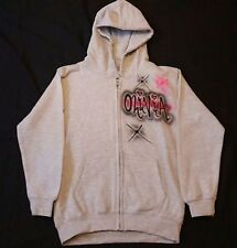 Urbanist Graff adult 3 colours personalised airbrushed grey hoodie back & front