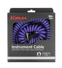 Kirlin Premium Coil 30ft Guitar Cable Purple IMK182COILP