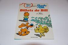 Boule et Bill T21 Billets de Bill EO / Roba // Dupuis