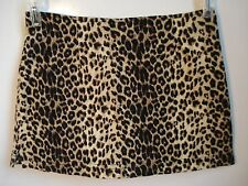 Charlotte Russe Short Skort Skirt 3 Leopard Animal Cotton Spandex  USA