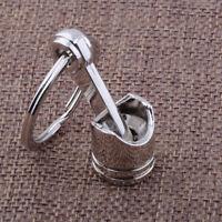 Engine Silver Metal Piston Car Keychain Keyfob Fob Key Chain Ring keyring Gifts