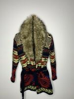 New Ralph Lauren X-Small Fur Shawl Cardigan Indian RRL Aztec Southwestern Polo