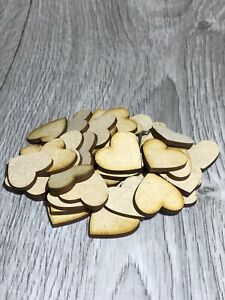 Wooden MDF Hearts Craft, Decorations, Plaques, Laser Cut, Embellishments 9 sizes