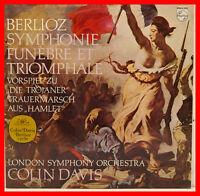 """Berlioz Symphony Funebre Et Triomphale London Symphony Colin Davis 12 """" LP B762"""