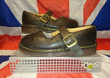 England Vintage*Dr Doc Martens Mary Janes Shoes*Matte Black*Goth*Grunge*Quirky*6