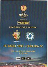Orig.PRG   Europa League  2012/13  FC BASEL - FC CHELSEA  1/2 FINALE  !!  SELTEN