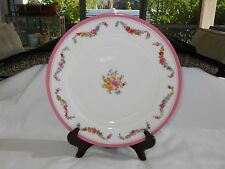 """Minton B62 Gilman Collamore 1881 Pink Band w Roses 10 1/2"""" Dinner Plate"""