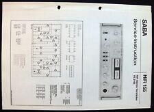 Saba HiFi 155-vs 2160 esquema Service-Manual de repuestos lista instai. datos