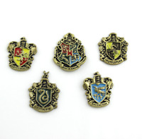Set of 5 pcs Harry Potter Hogwarts House Metal Pin Badge Bronze Hot