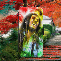BOB MARLEY JAMAICA LEGEND FLIP WALLET PHONE CASE COVER FOR IPHONE SAMSUNG HUAWEI
