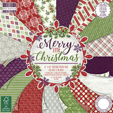First Edition 12x12 Premium Blocco di carta-Merry Little Christmas-Cartoline di Natale