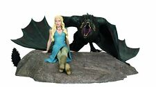 Game of Thrones Emilia Clarke Daenerys Targaryen and Drogon Statue Limited RARE