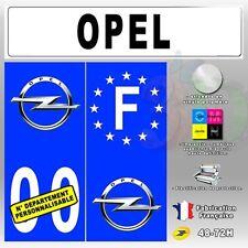 4X Stickers Plaques Auto Fond Bleu Opel T2