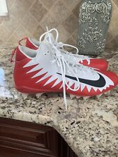 Nike Alpha Menace Low Football Cleats Red/black/white Mens Size 14