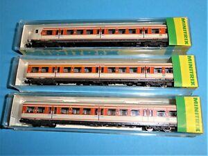 MINITRIX 3x DB S-Bahn-Wagen Ep.IV #13138 #13144 #13145 TOP&OVP
