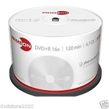 1000 PRIMEON DVD+R 4.7GB 120 Minuti 16X Cake Box dvd r +R +1 CD Verbatim 2761224
