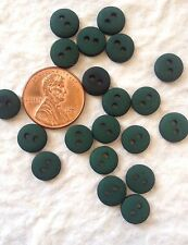 20 Buttons button Green hunter forest Dark Round Crafts eyes flower centers