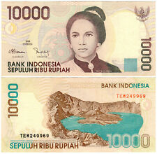 Indonesia 10000 Rupiah P#137e (2002) Bank Indonesia VF