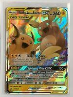 Raichu & Alolan Raichu GX TAG TEAM Ultra Rare 54/236 Pokemon SM Unified Minds NM