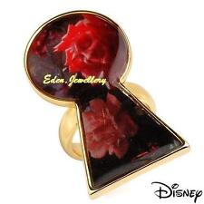 Disney Couture TOM BINNS Alice in Wonderland Talking Flower Ring Gold Plated