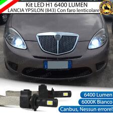 KIT LED LANCIA YPSILON 843 LAMPADE H1 ANABBAGLIANTI CANBUS 6000K 6400 LUMEN