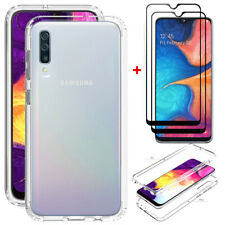 For Samsung Galaxy A20S Clear Crystal Case TPU Slim Cover+Full Screen Protector