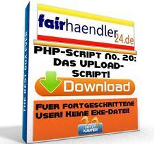 PHP-SCRIPT No. 20 Das UPLOAD SCRIPT - Tool Webmaster HP PC Software PHP E-Lizenz