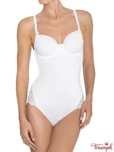 TRIUMPH Modern Finesse Bswp 85 B Bodysuit underwired padded cup, white NEW
