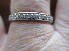 STUNNING 9CT W GOLD 0.25CT DIAMOND RING HALF ETERNITY WEDDING BAND P1/2 /Q