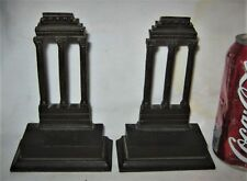 ANTIQUE US BRADLEY HUBBARD TEMPLE OF CASTOR & POLLUX CAST IRON STATUE BOOKENDS