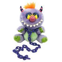 "Vintage Tara Toys Kuddlee Uglee 6"" Plush My Pet Monster Leash Purple Orange Hair"