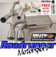 Milltek Audi S3 8P Quattro Turbo Back Exhaust System Non Res Inc Decat Downpipe