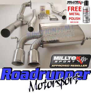 Milltek Audi S3 8P Quattro Exhaust System Non Resonated Inc Decat Downpipe