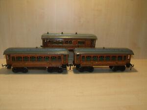 9778) BING uralt - Spur 1 - Personenzug 3 -teilig - 4-achsig - L. je 34 cm -