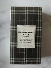 NIB Burberry Brit for Men 1.7 oz (50 ml) EDT Cologne Spray New In Box