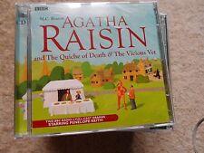 Agatha Raisin THE QUICHE OF DEATH & THE VICIOUS VET BBC Radio Audio CDs