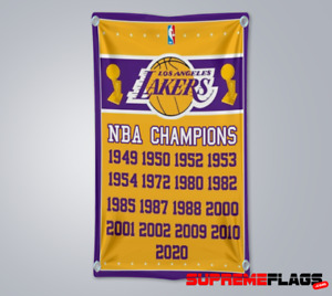 Los Angeles Lakers Championships Flag 3x5 ft Banner 2020 Champions