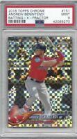 2018 Topps Chrome baseball card #151 Andrew Benintendi Boston Red Sox PSA 9