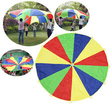 Children's Kids Rainbow Parachute Outdoor Games Sport Play Toys Activities 11Ft