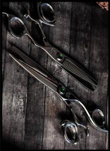 Professional Hairdressing Scissors Barber Official Kamisori Revolver ||| Set
