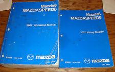 Original 2007 Mazda Mazda6 MAZDASPEED6 Shop Service Manual + Wiring Diagram Set
