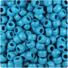 * 3 pour 2 * 100 X Dark Turquoise Opaque 9x6mm Barrel Shape Pony Qualité Perles