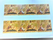 Dollhouse Miniature Tudor Style Frieze Wallpaper 1:12 Scale Unicorn Horse Trees