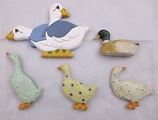 Set of 5 Goose Geese Duck Bird Refrigerator Magnets