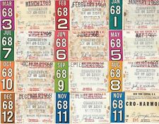 Lot of 12 New York Central RR tickets 1968