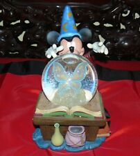 DISNEY SORCERER'S APPRENTICE MICKEY MOUSE FANTASIA MUSICAL LIGHT UP SNOW GLOBE