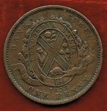 PROVINCE DU BAS CANADA 1837 DEUX SOUS ONE PENNY CITY BANK  TOKEN