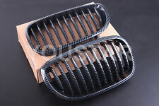 NEW CARBON KIDNEY GRILLS FOR BMW E46 3 SERIES 2 DOOR 2003 - 06 COUPE CONVERTIBLE