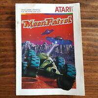 Moon Patrol Manual ( Atari 2600 ) - ( Booklet - Insert - Instructions )